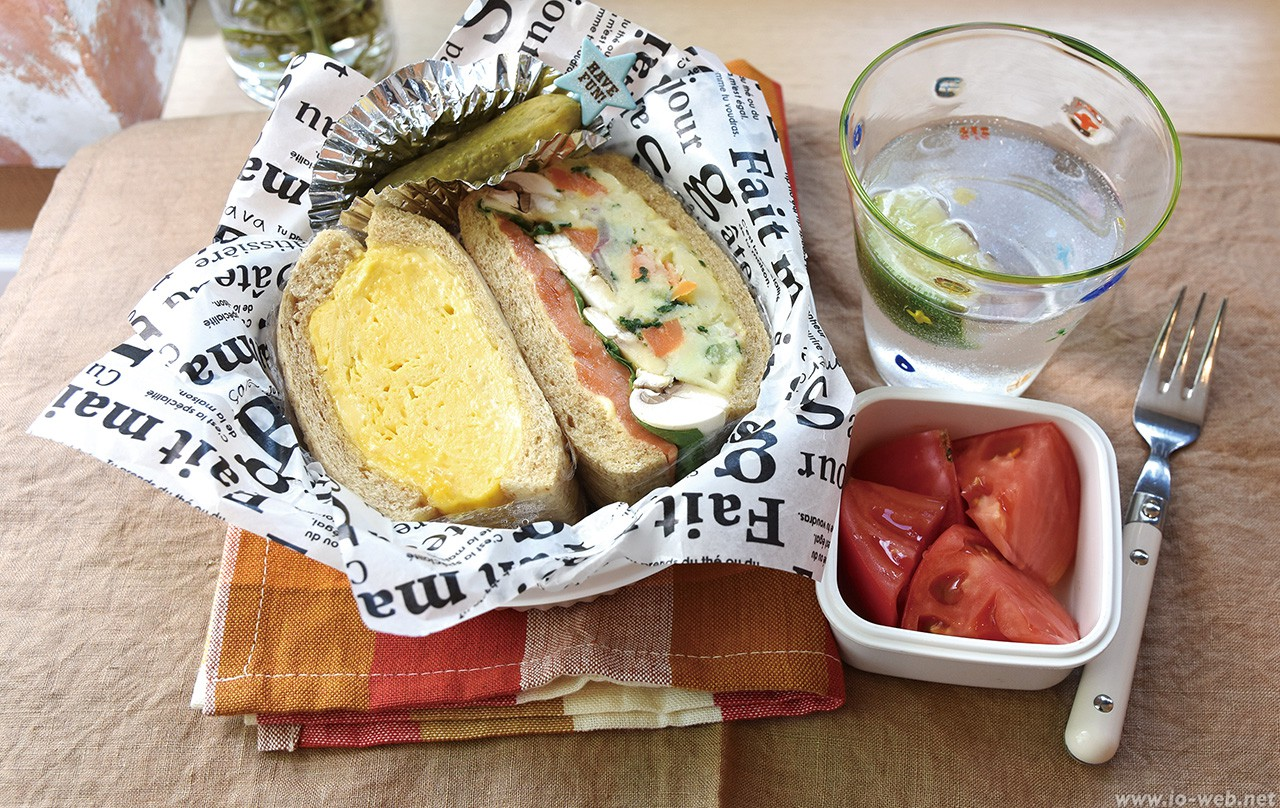 夏のサンドイッチ弁当