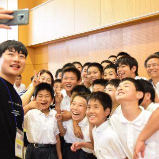 東京第1初中の生徒たち